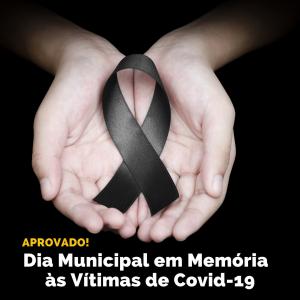 Câmara aprova Dia Municipal em Memória às Vítimas de COVID-19